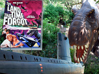 The DVD with a dinosaur and a submarine