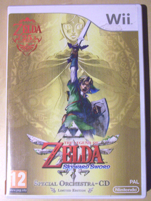 Photograph of the Zelda Video Game cover.