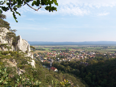 Panorama of the landscape of Lower Austria