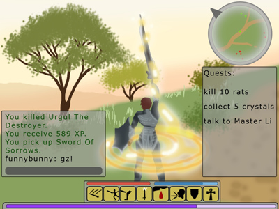 Typical Online RPG screenshot.