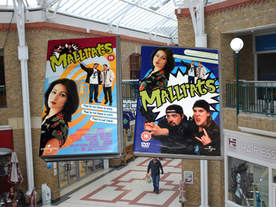 Mallrats DVD in a Mall