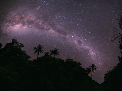 An enhanced image of the night sky.