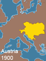 Map of Austria in 1900