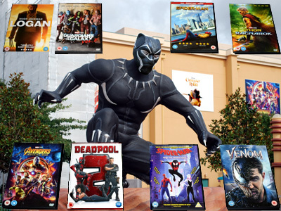 Black Panther with DVDs