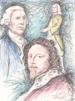 (L to R) John Stanley, Nicholas Lanier and William Boyce