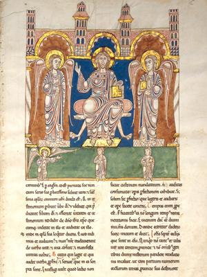 A medieval illuminated manuscript scripture