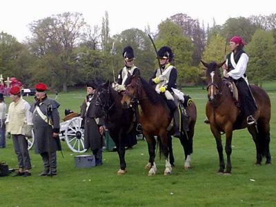 Napoleonic Re-enactors.