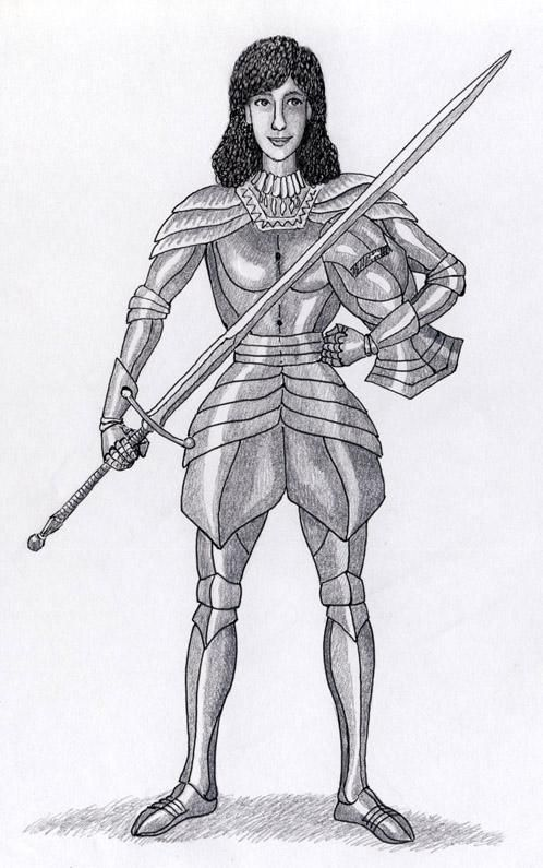 Narlesha in armour by Willem.