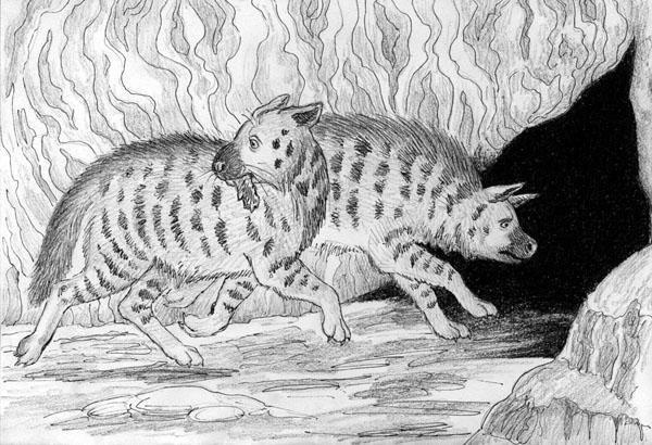 Cave hyenas.