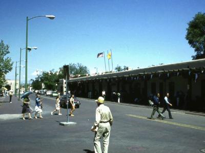 A street in Santa Fe, New Mexico