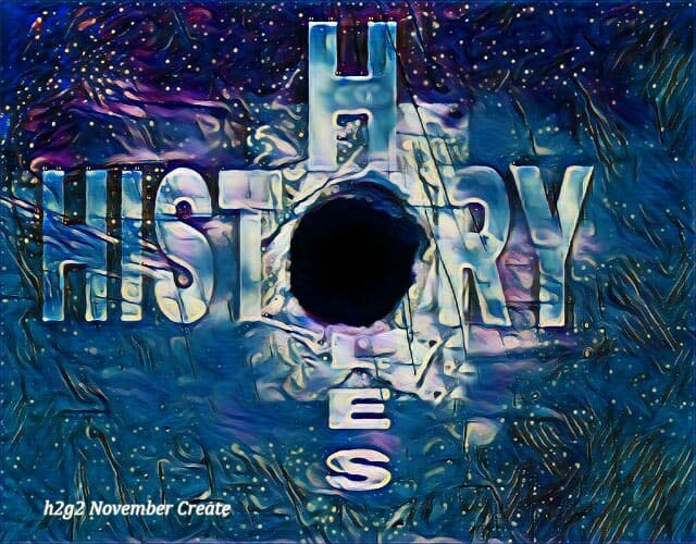 Holes in History, November 2020 Create Project, by Freewayriding