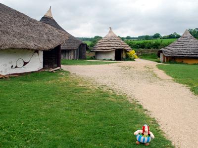 Obelix guarding the Gaulish Village