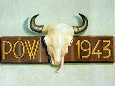 POW Cow 1943 Sign