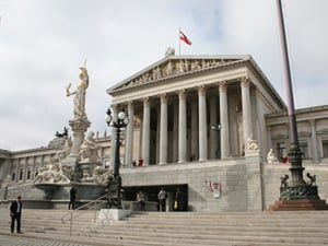 The Austrian Parliament Building, Vienna