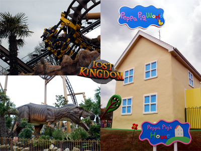 Paultons Park Postcard - Peppa Pig's House, a Rollercoaster and a Dinosaur