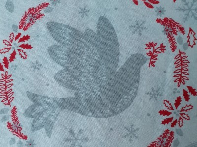 Material with a Peace Dove design