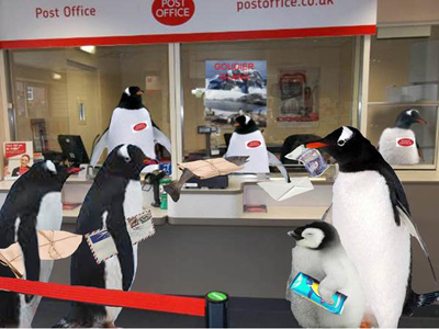 Penguins for Neighbours - the Post Office at the End of the World