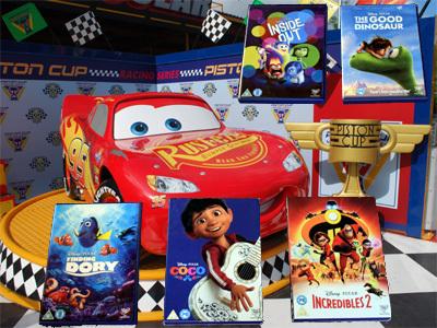 Lightning McQueen with DVDs