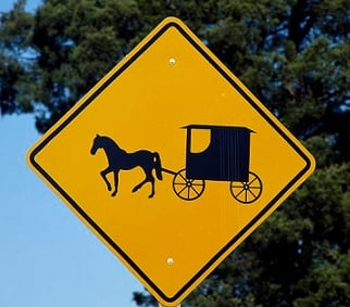 Amish buggy sign