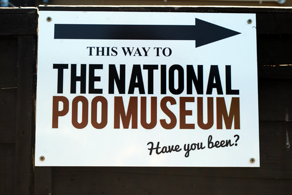 Poo Museum Sign by Bluebottle