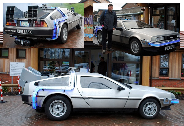A Delorean Time Machine