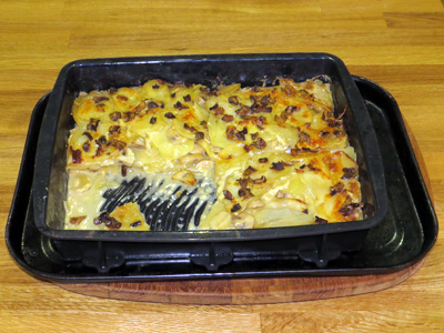 Photo of Potato Mushroom Gratin, by the Author.