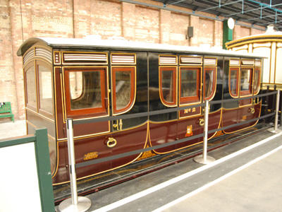 A photograph of Queen Adelaides Coach.