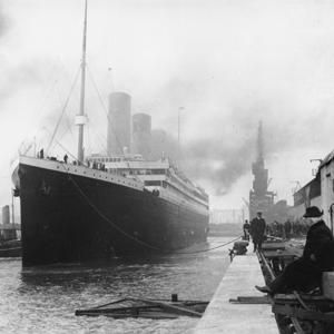 RMS Titanic at anchor in Southampton