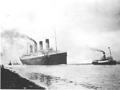 RMS Titanic sets out on its fateful voyage