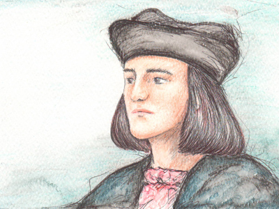Artwork depicting a reconstruction of Richard III