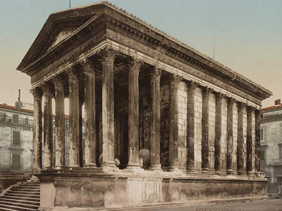 Photograph of the Roman Temple in Nimes
