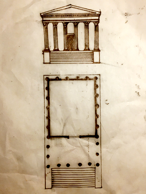 Plan of a Roman Temple