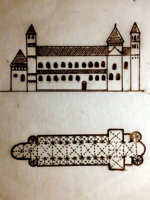 Plan of a Romanesque church