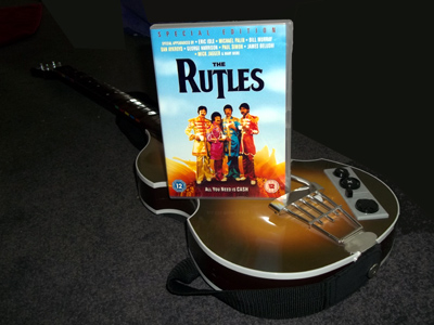 Rutles DVD and guitar