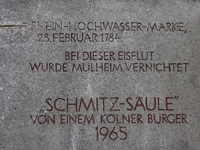 Schmitzsäule inscription