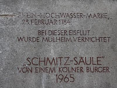 Schmitzsäule inscription