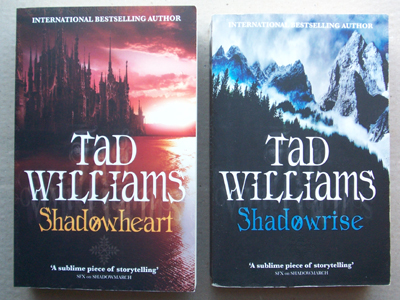 Front covers of two Shadowmarch paperback books