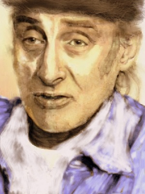 A portrait of Spike Milligan.