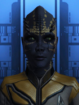 An avatar from the Star Trek Online game.