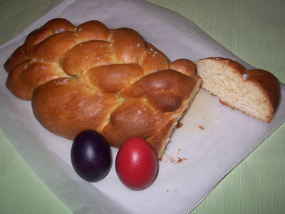 An Austrian Striezel Yeast Plait.