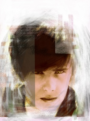 Artwork depicting Stuart Sutcliffe.