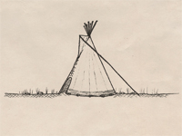 Drawing of a tipi.