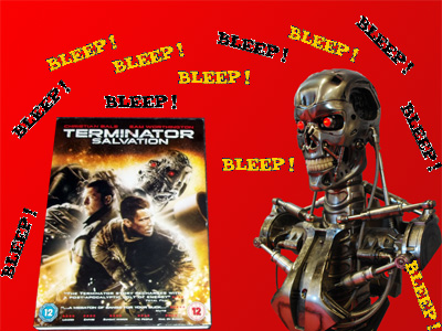 DVD cover with Terminator Exoskeleton and Bleeps