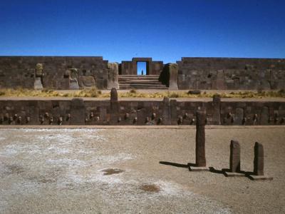 A photograph of Kalasasaya at Tiwanaku