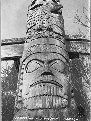 Totem Pole from Old Kasaan, Alaska