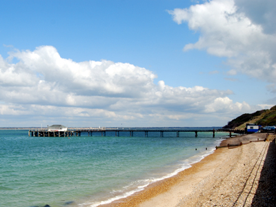 Totland Pier on the Isle of Wight