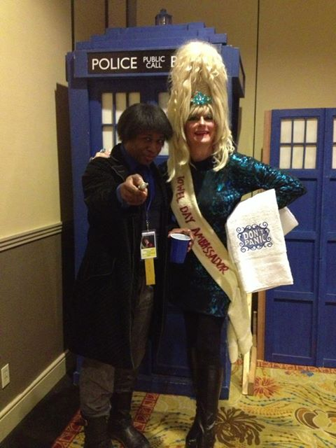 Moxie Anne: Intergalactic Towel Day Ambassador.