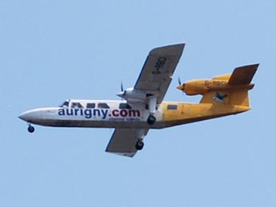 A Britten-Norman Trislander aircraft.