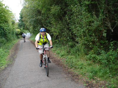 Cyclists following National Cycle Route 23