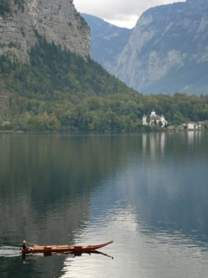 A photograph of a lake in Upper Austria
